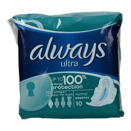 Always Ultra Normal Plus Σερβιέτες 10 Τεμ