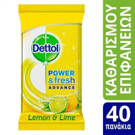 Dettol Αντιβακτηριδιακά Πανάκια Καθαρισμού Πολλαπλών Χρήσεων 40 Τεμ.