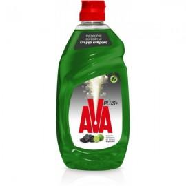 Ava Plus+ Υγρό Πιάτων Ενεργός Άνθρακας και Άρωμα Λεμόνι 430ml