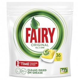 Fairy All In One Υγρές Κάψουλες Πλυντηρίου Πιάτων Λεμόνι 36 Τεμ