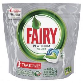 Fairy Platinum Υγρές Κάψουλες Πλυντηρίου Πιάτων Regular 24ΤΕΜ