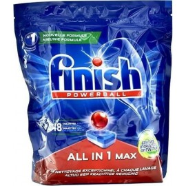 Finish All in 1 Max Ταμπλέτες Πλυντηρίου Πιάτων Λεμόνι 48 ΤΕΜ