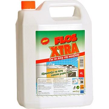 Flos XTRA Καθαριστικό για Λίπη Κουζίνας 4L