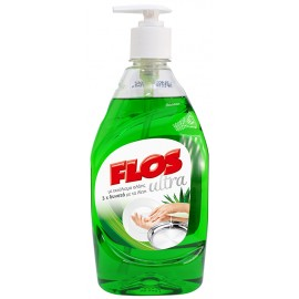 Flos Ultra Υγρό Πιάτων Aloe Vera Με Αντλία 430ml