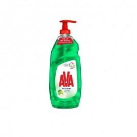 Ava Action Υγρό Πιάτων Με Αντλία Ξύδι Πράσινο Μήλο 650ml
