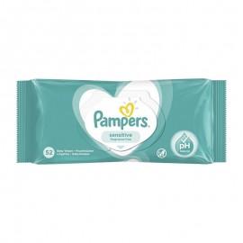 Pampers Μωρομάντηλα Sensitive Fragrance Free 52 Τεμ.