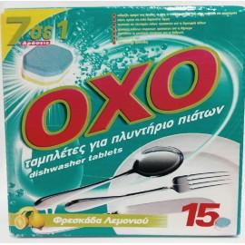 OXO Ταμπλέτες Πλυντηρίου Πιάτων 7σε1 15ΤΕΜ