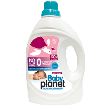 Planet Baby Βρεφικό Υγρό Απορρυπαντικό Ρούχων 40 Μεζ