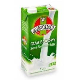 Adoro Γάλα 1.5% Λιπαρά Μακράς Διάρκειας 1L
