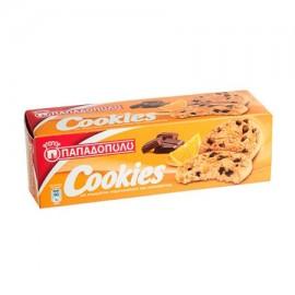 Παπαδοπούλου Cookies Μπισκότα Σοκολάτα Πορτοκάλι 180gr
