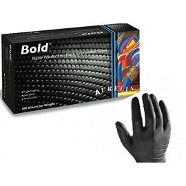 Aurelia Bold Γάντια Νιτριλίου Μαύρα Χωρίς Πούδρα Medium 100τεμ