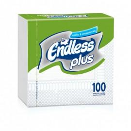 Endless Plus Χαρτοπετσέτα Λευκή 30x30εκ 100ΤΕΜ