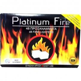 Platinum Fire Προσάναμμα Τζακιού 48 κύβοι