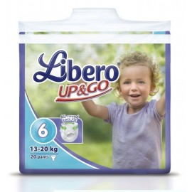 Libero Up&Go N.6 (13-20Kg) 20Τεμ Πάνα Βρακάκι