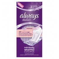 Always Dailies Norrmal Pantyliners Scented 20pcs