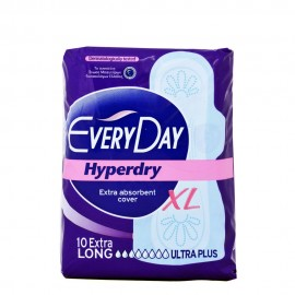 Everyday Hyperdry Extra Long Ultra Plus Σερβιέτες 10 Τεμ