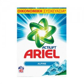 Ariel Σκόνη Πλυντηρίου Ρούχων Alpine 45ΜΕΖ 2.925KG