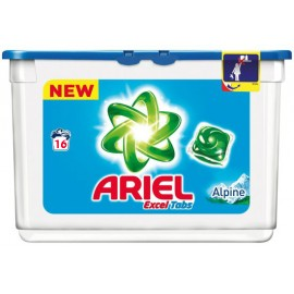 Ariel Υγρές Κάψουλες Πλυντηρίου Ρούχων Alpine 16ΤΕΜ