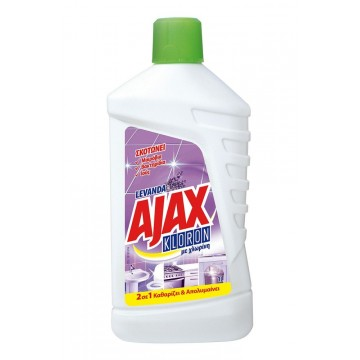 Ajax Kloron 2σε1 Υγρό Γενικού Καθαρισμού Λεβάντα 1L