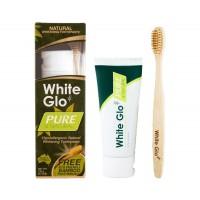 White Glo Οδοντόκρεμα Pure Natural 85ml + ΔΩΡΟ Οδοντόβουρτσα