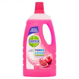Dettol Υγρό Πολυκαθαριστικό Power Fresh Ρόδι 1L