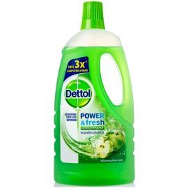 Dettol Υγρό Πολυκαθαριστικό Power Fresh Πράσινο Μήλο 1L