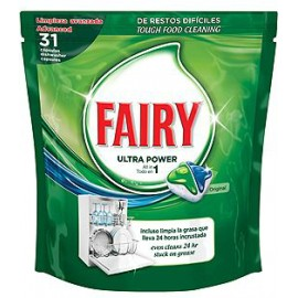 Fairy All In One Original Κάψουλες Πλυντηρίου Πιάτων 31ΤΕΜ