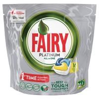 Fairy Platinum Υγρές Κάψουλες Πλυντηρίου Πιάτων Λεμόνι 10ΤΕΜ