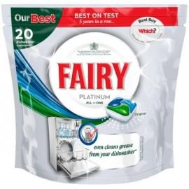 Fairy Platinum All in 1 Υγρές Κάψουλες Πλυντηρίου Πιάτων 20ΤΕΜ