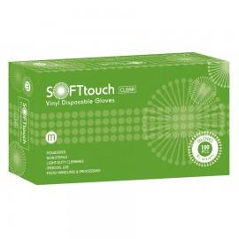 Soft Touch Γάντια Βινυλίου Λευκά Clear Large 100τεμ