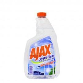 Ajax Crystal Clean Καθαριστικό Τζαμιών Ανταλλακτικό 750ml