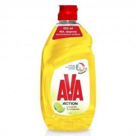 Ava Action Υγρό Πιάτων Ξύδι και Lime 450ml