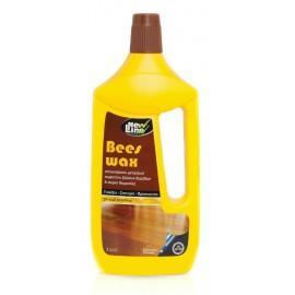 New Line Αυτογυάλιστη Παρκετίνη Ξύλινων Δαπέδων Bees Wax 1L