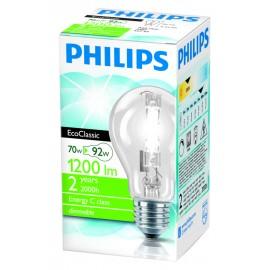 Philips Λάμπα Αλογόνου Eco Classic E27 70W (92W)