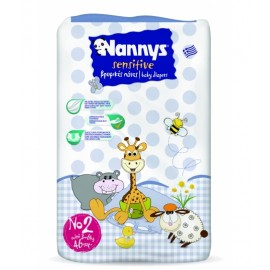 Nannys Sensitive Παιδικές Πάνες Ν.2 Mini 3-6kg 46ΤΕΜ