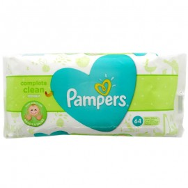 Pampers Μωρομάντηλα Complete Clean Natural 64 Τεμ.