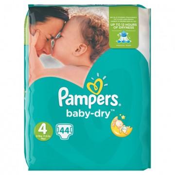 Pampers Baby Dry N.4 8-16kg Maxi 44 TEM
