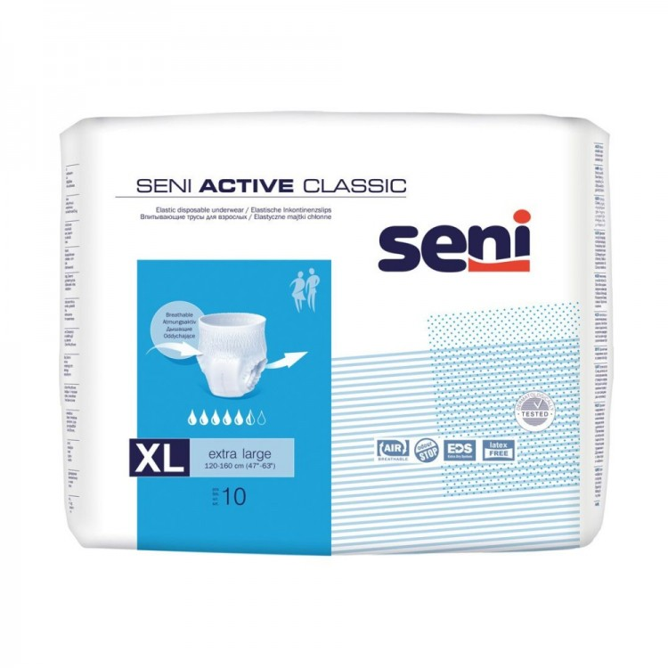 72e8495cdeb7 Seni Active Classic Πάνα Βρακάκι Ενηλίκων Extra Large 10τεμ.