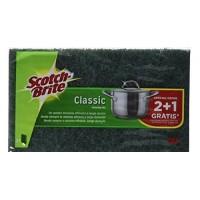 Scotch Brite Classic Σφουγγάρι Fibra Πράσινο 2+1 Δώρο