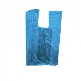 Τσάντα Πλαστική Φανέλα Χαρτοπλάστ Β Μπλέ 60εκ 1 Κιλό