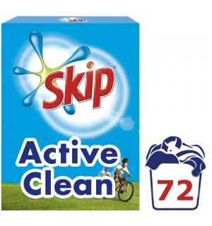 Skip Active Clean Σκόνη Πλυντηρίου Ρούχων 72ΜΕΖ 4.32KG
