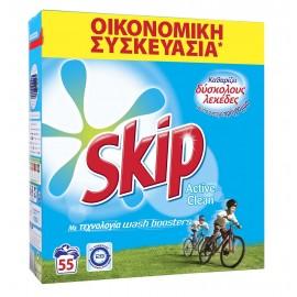 Skip Active Clean Σκόνη Πλυντηρίου 55Μ 3.85Kg