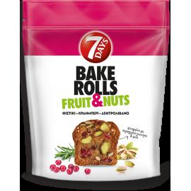 7Days Bake Rolls Fruit Nuts Φιστίκι Κράνμπερι Δεντρολίβανο 80gr