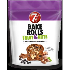 7Days Bake Rolls Fruit Nuts Καρύδι Πέκαν Σταφίδα Κανέλα 80gr