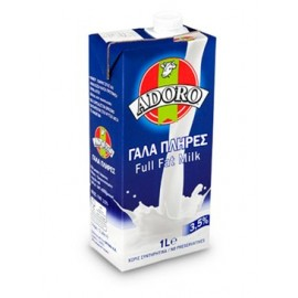 Adoro Γάλα Πλήρες 3.5% Λιπαρά Μακράς Διάρκειας 1L