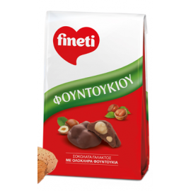 Fineti Σοκολάτα Γάλακτος Με Ολόκληρα Φουντούκια 100gr
