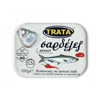 Trata Σαρδέλες Αιγαίο Πικάντικες σε Φυτικό Λάδι 100gr