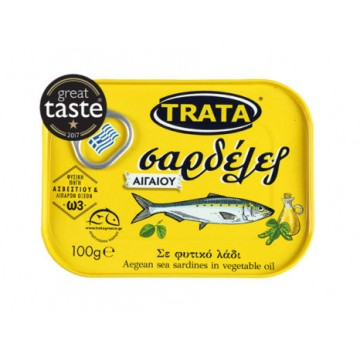 Trata Σαρδέλες Αιγαίο σε Φυτικό Λάδι 100gr
