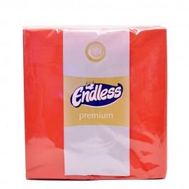 Endless Premium Χαρτοπετσέτες Πολυτελείας Κόκκινη 33x33εκ 50 Τεμ