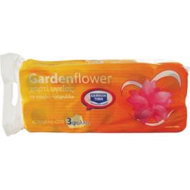 Garden Flower Χαρτί Υγείας Τρίφυλλο 10 Ρολλά X 75gr